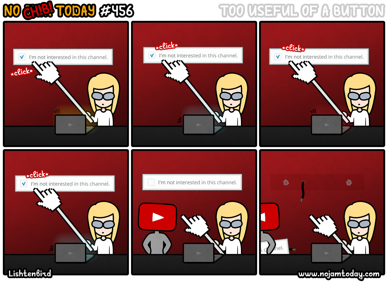 comic button youtube